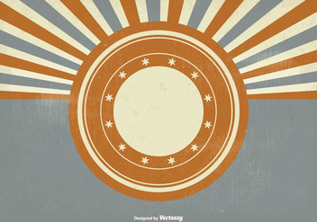 Vintage Style Sunburst Background - Free vector #302151