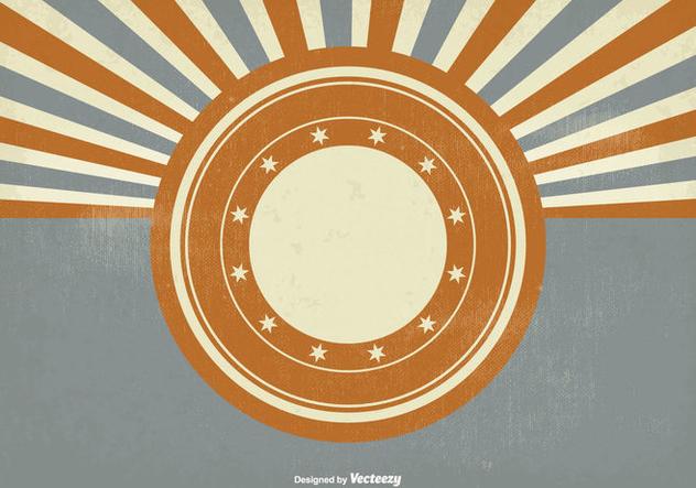 Vintage Style Sunburst Background - vector #302151 gratis