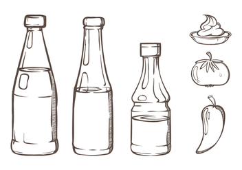 Bottle Sauce Illustrations - бесплатный vector #302201
