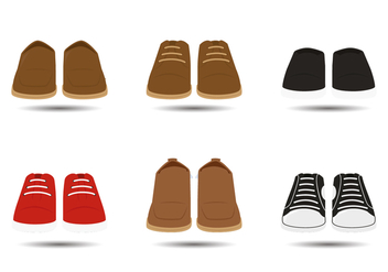Men Shoes Vectors - vector gratuit #302211