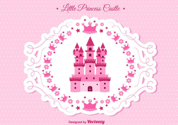 Princess Castle Vector - vector #302241 gratis