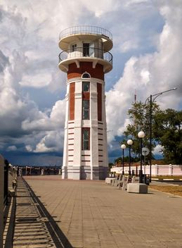 Embankment of the Amur river, lighthouse - image gratuit #302401