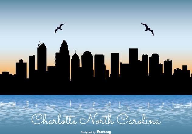 Charlotte North Carolina Skyline Illustration - vector #302451 gratis
