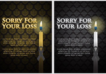 Mourning Cards - vector gratuit #302681