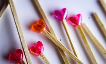 lollipop orange and pink lollipops - Free image #302781