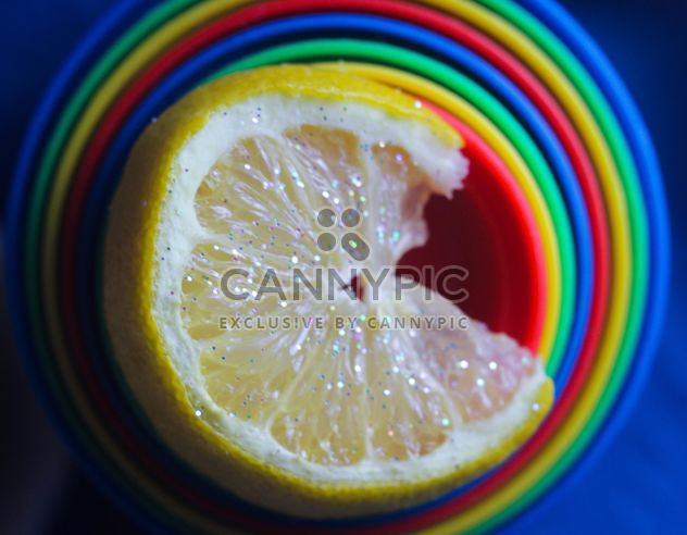 Glittered lemon slice - Free image #302841