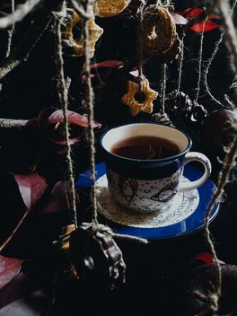Black tea and cookies - image gratuit #302871