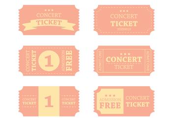Vintage Concert Ticket Vector - Free vector #303101