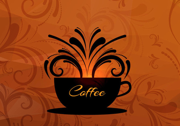Coffee cup vector background - vector gratuit #303121