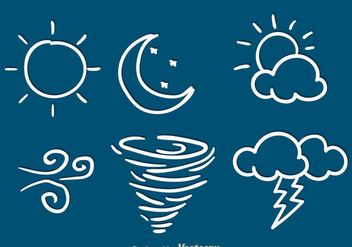 Weather Sketch Icons - Free vector #303161