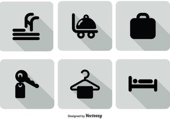 Hotel Service Icon Set - vector gratuit #303421