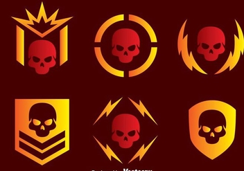Skull Military Vector Icons - Kostenloses vector #303661