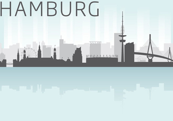 Hamburg Skyline Vector - бесплатный vector #303681