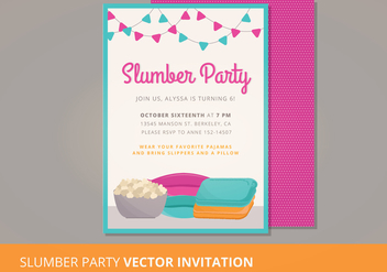 Slumber Party Vector Invitation - vector gratuit #303821