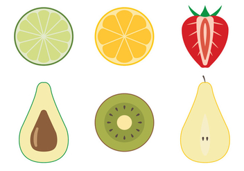 Fruit Top View - vector gratuit #304151