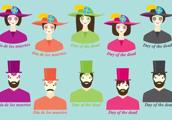 Dia De Los Muertos Costume - бесплатный vector #304191