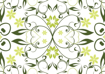 Green Floral Seamless Vector Background - Kostenloses vector #304261