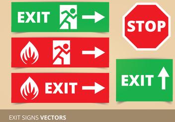 Exit Sign Vectors - Kostenloses vector #304271