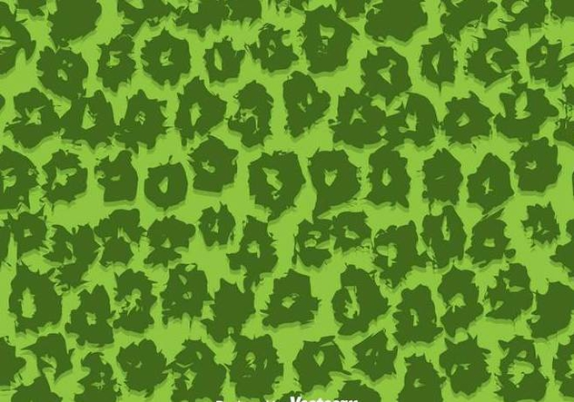 Green Leopard Pattern Vector - Free vector #304281