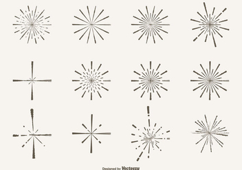 Hand Drawn Style Sparkle Shapes - Free vector #304931