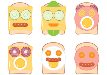 Funny Bread Face - Free vector #304961