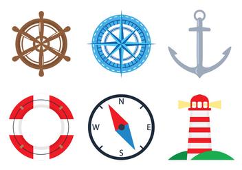 Nautical Icons - Kostenloses vector #305071