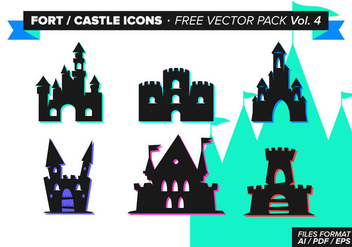 Fort Castle Icons Free Vector Pack Vol. 4 - Free vector #305101