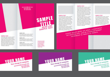 Minimal Colorful Fold Brochure - vector #305171 gratis
