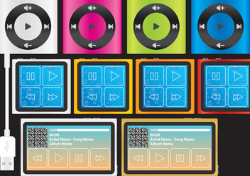 Compact mp3 Players - vector gratuit #305221