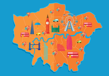 london street map - vector #305431 gratis