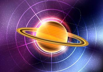 Saturn planet vector - Kostenloses vector #305641