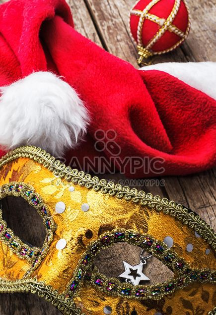 Mask, Santa Claus hat and Christmas decoration - Free image #305751