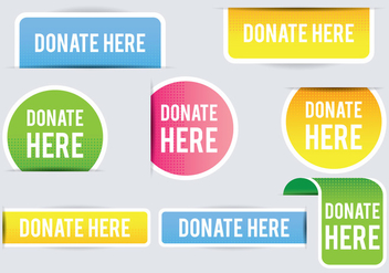 Donate Banner - vector #305821 gratis