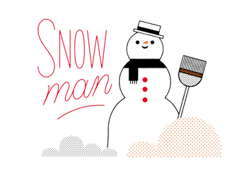 Free Snowman Vector - Free vector #305841