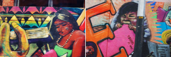 Downtown Street Art Diptych - Free image #309131