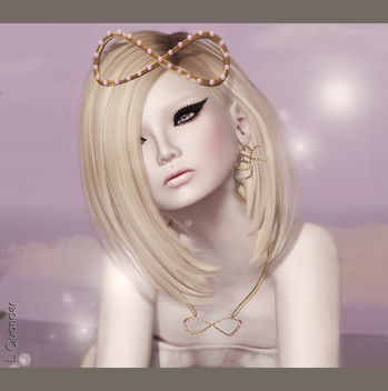 C88 June Glam Affair - Margot - Petal 02 - Blonde & LaGyo_Aiko headpiece - image gratuit(e) #315581