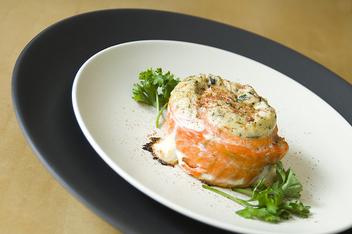 Alaskan Sockeye Salmon Pinwheel - King Crab Stuffing - Free image #317071