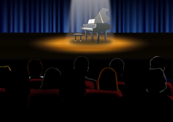 Piano Recital Vector - Free vector #317441