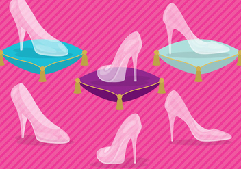 Glass Slipper Vectors - бесплатный vector #317461