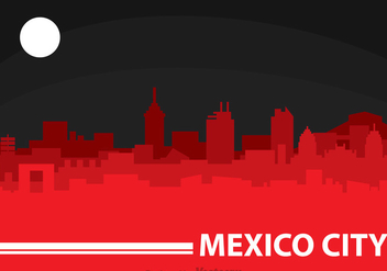Mexico City Night - vector gratuit #317541