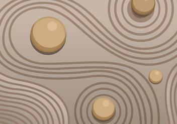Zen garden sand vector - Kostenloses vector #317551