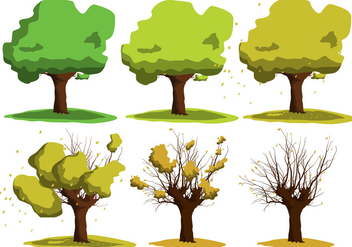 Growing Acacia Tree Vectors - Free vector #317581