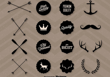 Quality Hipster Graphics - Free vector #317591