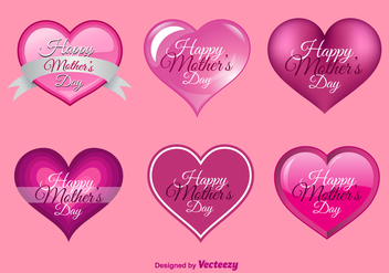 Happy Mother's Day Hearts - Free vector #317611