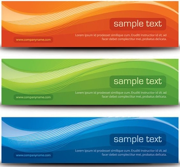 Stylish Wavy Banners - vector #317731 gratis
