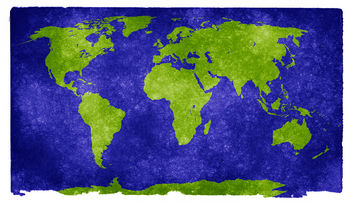 World Grunge Map - Kostenloses image #323611
