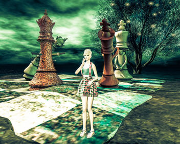 When I'm bored, I watch the chess fun alone - image #325611 gratis