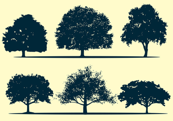 Oak tree silhouette vectors - бесплатный vector #326571