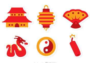 Chinese Vector Flat Icons - Free vector #326761