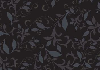Dark floral pattern background vector - Free vector #327021